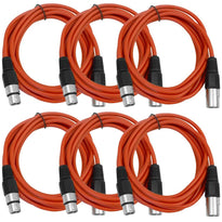 SAXLX-10 - 6 Pack of Red 10 Foot XLR Patch Cables