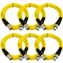 SAXLX-10 - 6 Pack of Yellow 10 Foot XLR Patch Cables