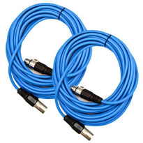 SAXLX-25 - Pair of Blue 25 Foot XLR Microphone Cables