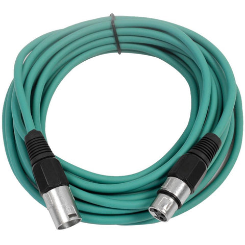 SAXLX-25 - Green 25 Foot XLR Microphone Cable