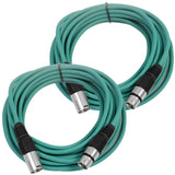 SAXLX-25 - Pair of Green 25 Foot XLR Microphone Cables