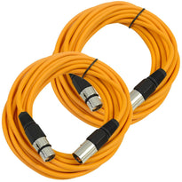 SAXLX-25 - Pair of Orange 25 Foot XLR Microphone Cables