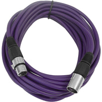 25 Ft XLR Microphone Cable - Purple