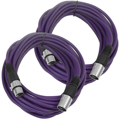 SAXLX-25 - Pair of Purple 25 Foot XLR Microphone Cables