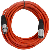 SAXLX-25 - Red 25 Foot XLR Microphone Cable