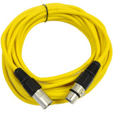 SAXLX-25 - Yellow 25 Foot XLR Microphone Cable