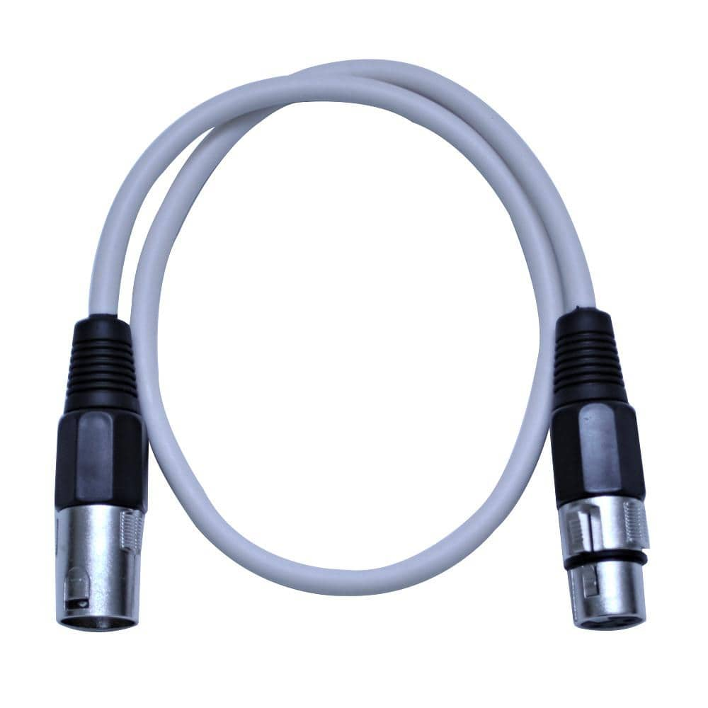 saxlx 2 white 2 foot xlr patch cable seismicaudio. Black Bedroom Furniture Sets. Home Design Ideas