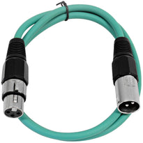 SAXLX-3 - Green 3 Foot XLR Patch Cable