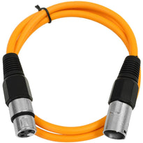 SAXLX-3 - Orange 3 Foot XLR Patch Cable