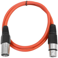 SAXLX-3 - Red 3 Foot XLR Patch Cable