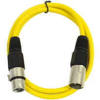 SAXLX-2 - Yellow 2 Foot XLR Patch Cable