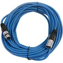 SAXLX-50 - Blue 50 Foot XLR Microphone Cable
