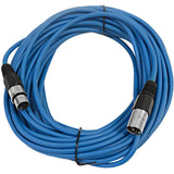 SAXLX-50 - 6 Pack of Blue 50 Foot XLR Microphone Cables