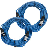 SAXLX-50 - Pair of Blue 50 Foot XLR Microphone Cables