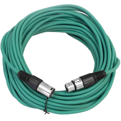 SAXLX-50 - Green 50 Foot XLR Microphone Cable
