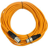SAXLX-50 - Pair of Orange 50 Foot XLR Microphone Cables