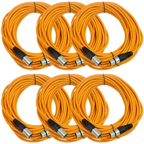 SAXLX-50 - 6 Pack of Orange 50 Foot XLR Microphone Cables