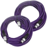 SAXLX-50 - Pair of Purple 50 Foot XLR Microphone Cables