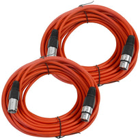 SAXLX-50 - Pair of Red 50 Foot XLR Microphone Cables