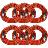 SAXLX-50 - 6 Pack of Red 50 Foot XLR Microphone Cables