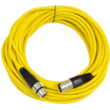 SAXLX-50 - Yellow 50 Foot XLR Microphone Cable