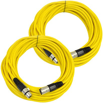 SAXLX-50 - Pair of Yellow 50 Foot XLR Microphone Cables