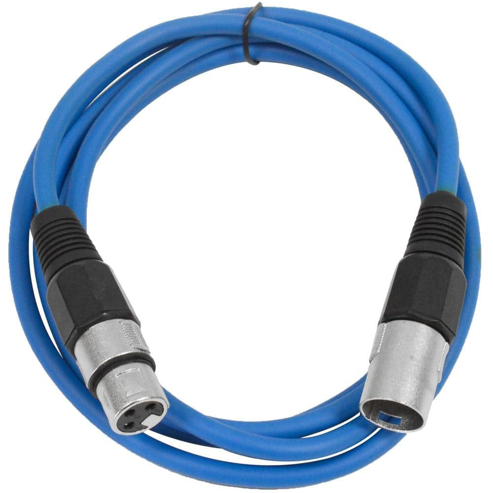 saxlx 6 blue 6 foot xlr patch cable seismicaudio. Black Bedroom Furniture Sets. Home Design Ideas