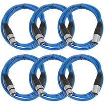 SAXLX-6 - 6 Pack of Blue 6 Foot XLR Patch Cables