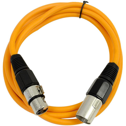 Balanced Seismic Audio SAXLX-6BGORYP Pack of 6-Feet Multiple Color XLR Male to XLR Female Patch Cables