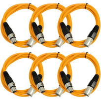 SAXLX-6 - 6 Pack of Orange 6 Foot XLR Patch Cables