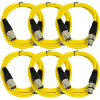 SAXLX-6 - 6 Pack of Yellow 6 Foot XLR Patch Cables