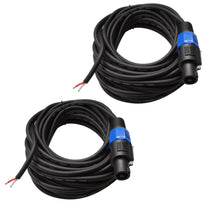 SPRW35 - Two Raw Wire to Speakon Speaker Cable 35'