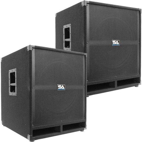 "Tremor 18 - 18"" Powered Pro Audio Subwoofer Cabinet (Pair)"