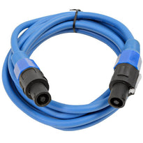 TW12S10- Blue Speakon to Speakon Speaker Cable 10'
