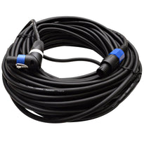 TW12SRT100 - Speakon to Right Angle Speakon Speaker Cable 100'