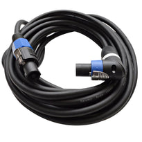 TW12SRT25 - Speakon to Right Angle Speakon Speaker Cable 25'