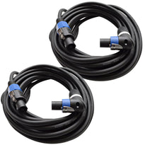 TW12SRT25 - Pair of Speakon to Right Angle Speakon Speaker Cables 25'