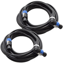 TW12SRT35 - Pair of Speakon to Right Angle Speakon Speaker Cables 35'