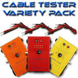 SA-CT123 - Cable Tester (3 Pack) (Test XLR, 2P/4P Speakon, TRS, TS, RCA, MIDI 3P/5P Cables)