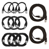 XLR Patch Cable Pro Audio / DJ Crash Kit