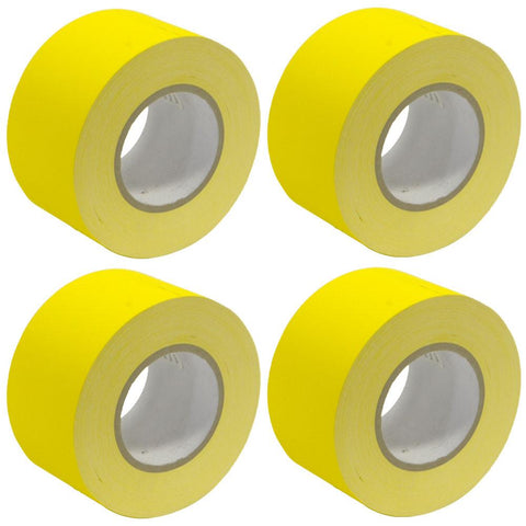 Gaffer's Tape - Yellow - 3 inch (4 Pack)