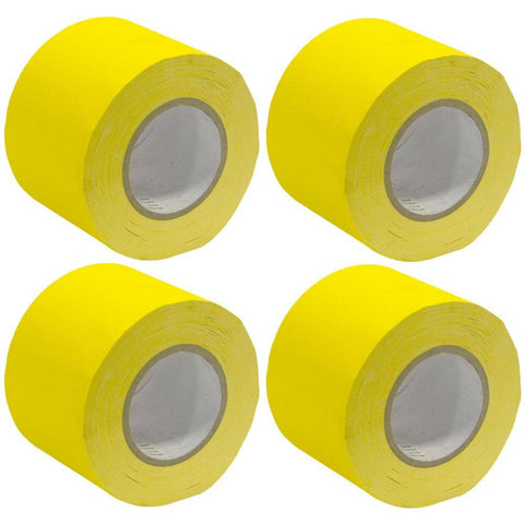 Gaffer's Tape - Yellow - 4 inch (4 Pack)