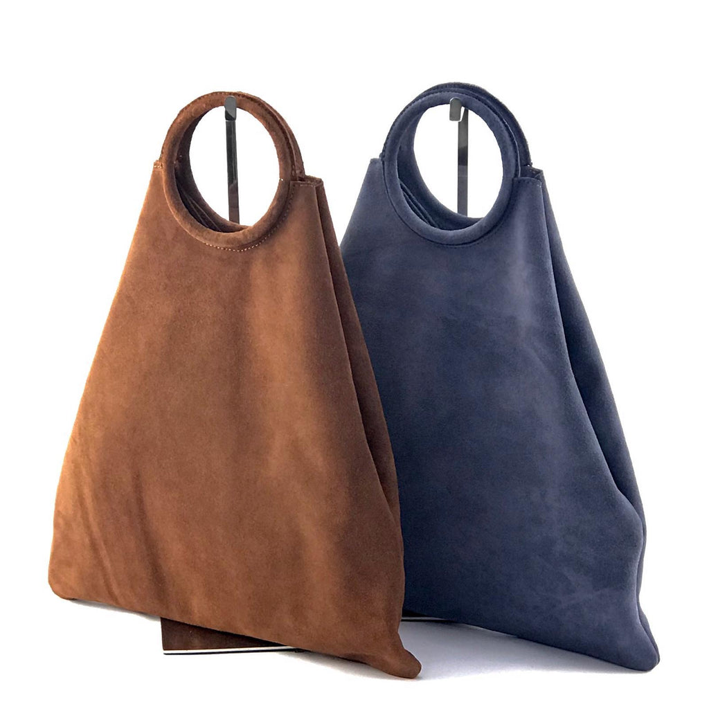 Suede Shopping Bag - Tabac