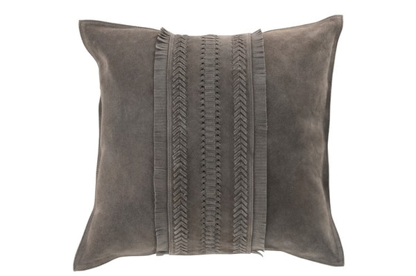 Suede Cushion  - Grey