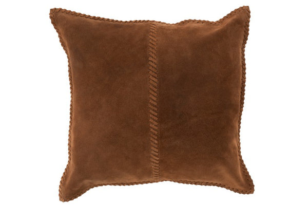 Suede Cushion  - Tabac