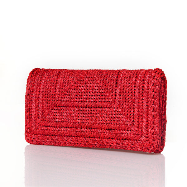 Penelope Clutch - Bold Red