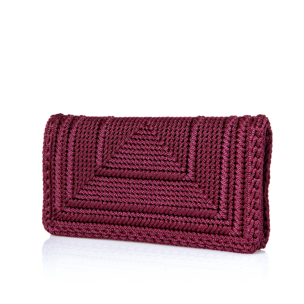 Penelope Clutch - Burgundy
