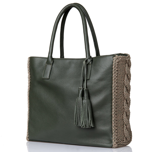 Astarte Winter Tote Bag - Khaki