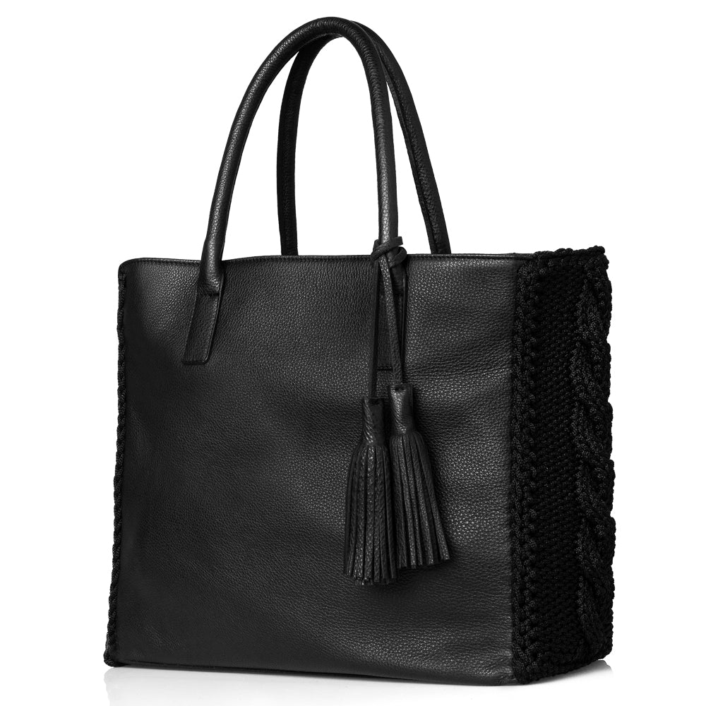 Astarte Winter Tote Bag - Black