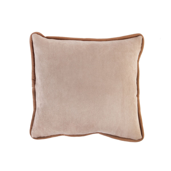 Beige Velvet Basic Cushion